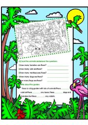 English Worksheets: ANIMALS / THERE ARE