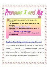 French Object Pronouns Quiz/Worksheet (me, te, nous, vous, le, la ...