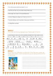English Worksheet: Madagascar - The Movie 3/3