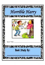 English worksheet: Horrible Harry Comprehension Packet