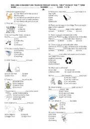 English Worksheet: My English 7