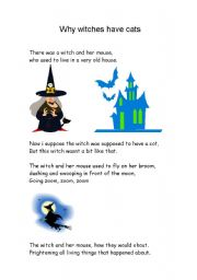 English Worksheets: why witches have cats