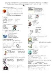 English Worksheets: My English 7 �B�