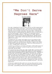 English Worksheets: MLK - part III -  �We Don�t Serve Negroes Here�