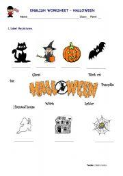 English worksheet: Halloween