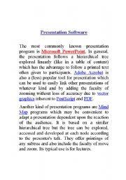 English Worksheets: Presentation software