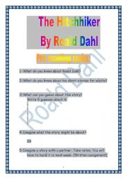 PROJECT: Reading a short-story by Dahl: the Hitchhiker (9 pages) (more colourful version)