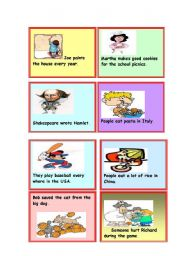 Passive Voice Cards - 1 of 5