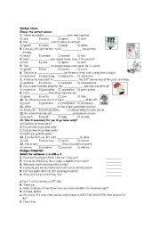 English worksheet: Multiple Choice Questions