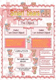 English Worksheets: Direct & Indirect Object.