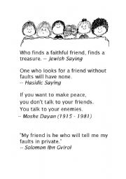 quotes on friendship   ESL worksheet by chelikleyla