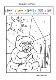 english worksheet colouring activity - Colouring Activity