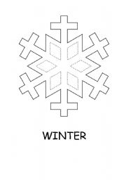 English Worksheets: snowflake