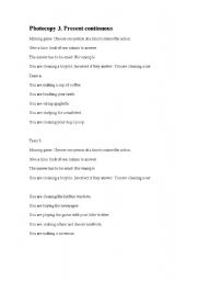 English Worksheets: Miming game