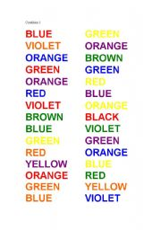 English Worksheets: COLOUR LEARNING GAME