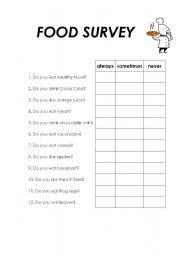 English teaching worksheets: Surveys
