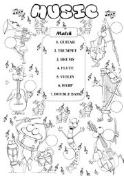 English teaching worksheets: Musical instruments