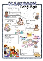 English Worksheet: Classroom Language
