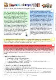 English Worksheets: Six degrees of separation