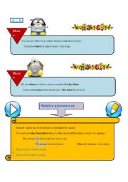English Worksheet: Adjective Clauses (3)