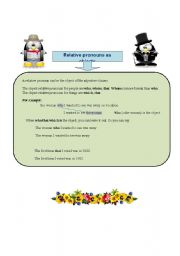English Worksheet: Adjective Clauses (4)