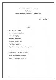 English Worksheet: The Chidren and the Tsunami, a play by V.Shai