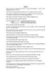 English Worksheets: Writing texts