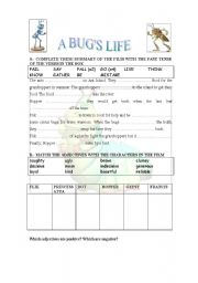 English Worksheets: A BUG�S LIFE. THE FILM
