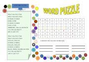 English worksheet: Colours