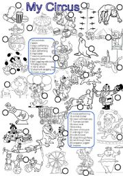 English teaching worksheets: The circus