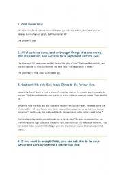 English Worksheets: jesus loves me