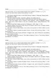 English Worksheets: bob�s life