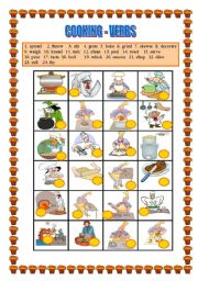 COOKING VERBS -Matching