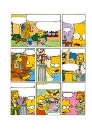English Worksheet: Simpsons comic (2 of 2)