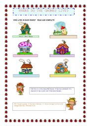 English Worksheets: Where do the gnomes live? (Part 1)