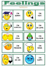 English Worksheets: FEELINGS dominoes !!!!!!!!!!!!!!!! 1/3