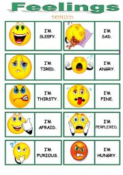 English Worksheets: FEELINGS dominoes !!!!!!!!!!!!!!!! 3/3