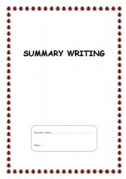 writing summaries worksheets Description from pinterestcom chapter summary, writing worksheets they have made impressive portfolios in writing book reports.