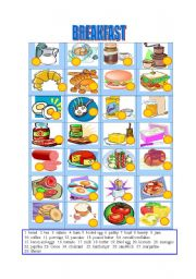 English Worksheet: Breakfast-Matching
