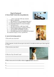 ... Movies Gt Film Pay If Forward moreover pay it forward movie worksheet