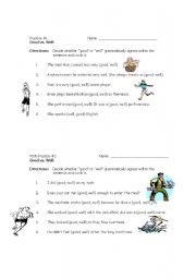 English worksheets: Good vs. Well Short Practices