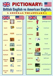 English Worksheets: British English vs American English - PICTIONARY Part2