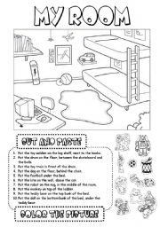 English Worksheet: My room (1)