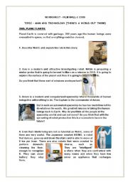 English Worksheets: Wall-E worksheet on the film