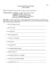 English Worksheets: Sentence Basics Page 2