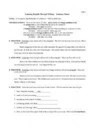English Worksheets: Sentence Basics Page 3