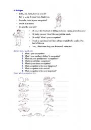 English Worksheets: what is your occupation?