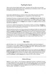 English worksheet: English myths and legends