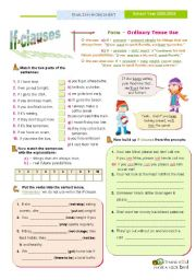 English Worksheet: IF- Clauses (1st of the SET)  - Ordinary Tense Use   (Present + Present S. or Present S + Will or other modals)