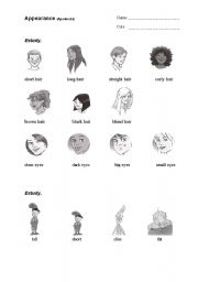 English Worksheets: Appearance_1